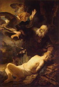 Рембрандт «Жертвоприношення Авраама»